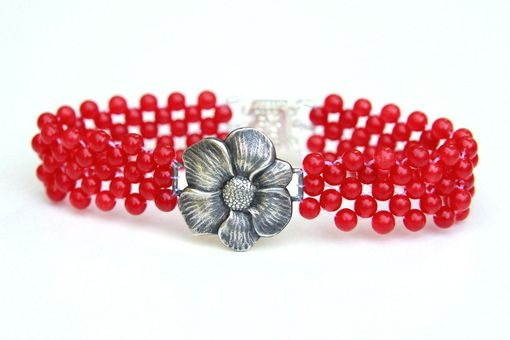 Custom Made Hand Woven Sterling Silver Flower Bracelets. Perfect Mother Daughter Bracelets Or Bridesmaid Gifts!