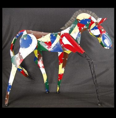 Custom Made Found Object Metal Horse Sculpture