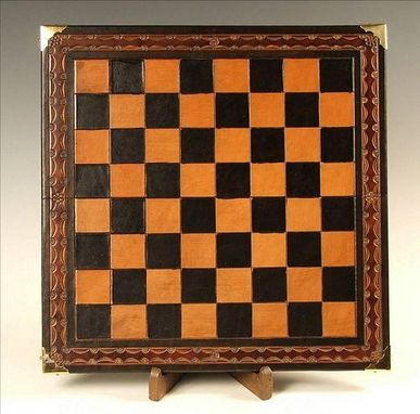 Custom Made Leather Chess Board