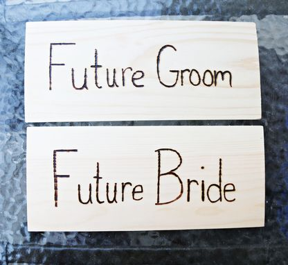 Custom Made Wood Sign Or Photo Prop (Double Sided!) Great For Wedding & Engagement