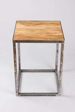 Custom Made Modern Industrial Rustic End Table
