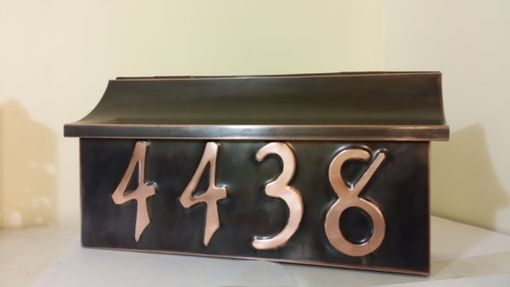 Custom Made Flush Mount Patina Copper Mailbox With House Numbers