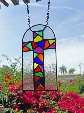 Custom Made Stained Glass Cross