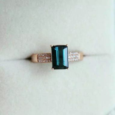 Custom Made 1.68 Carat Tourmaline Ring In 14k Rose Gold