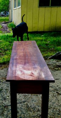 Custom Made Reclaimed Coffee Table, Exotic South American Hardwood