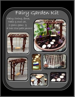 Custom Made Fairy Garden Kit,Fey Garden,Fairy Faerie Pixie Garden, Msytical Garden
