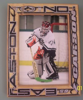 Custom Made Hockey Picture Frame