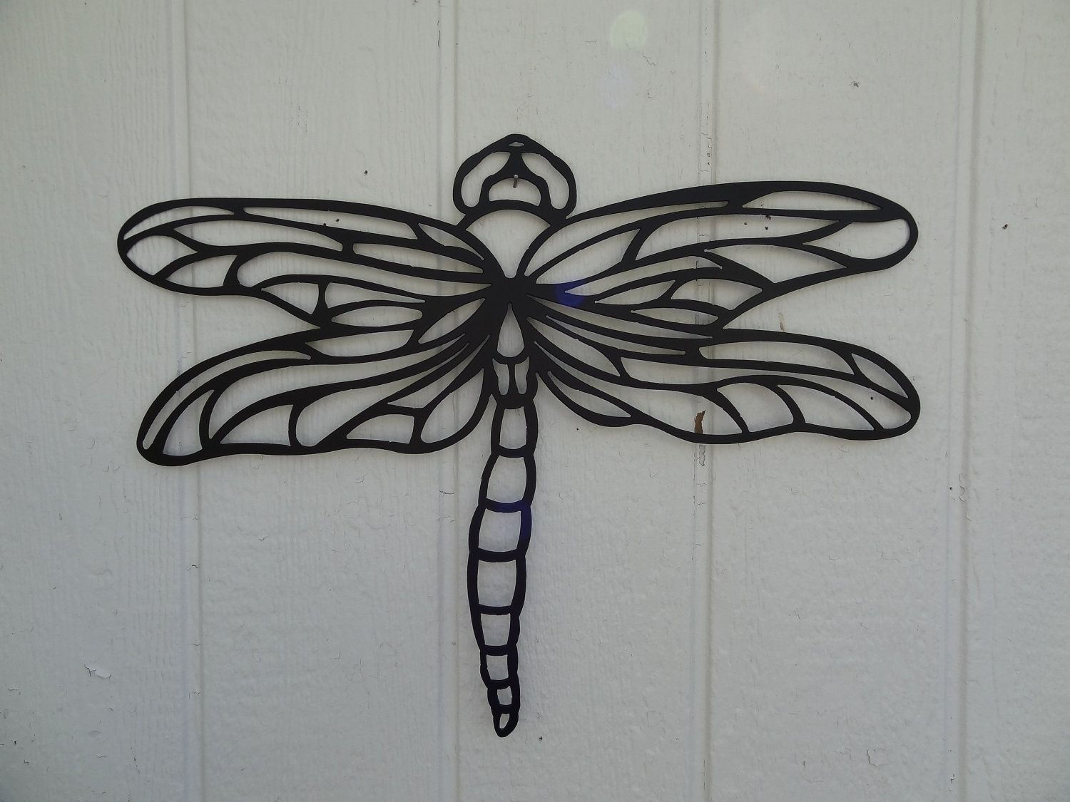Home Decor Metal Wall Art ~ Custom dragonfly ft metal wall art home garden kitchen