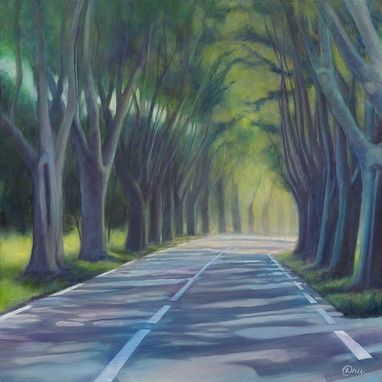 Custom Made The Road To Arles (Southern France) - Fine Art Print On Canvas, Unstretched (20