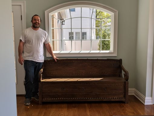 Custom Made Custom Oak Bench