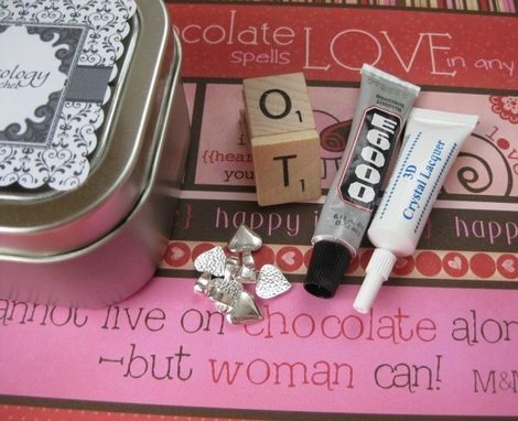 Custom Made Do-It-Yourself Scrabble Tile Pendant Kit