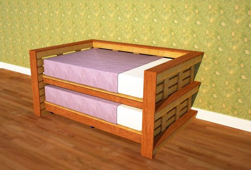 Custom Made Full Size Day Bed Using Reclaimed Wood