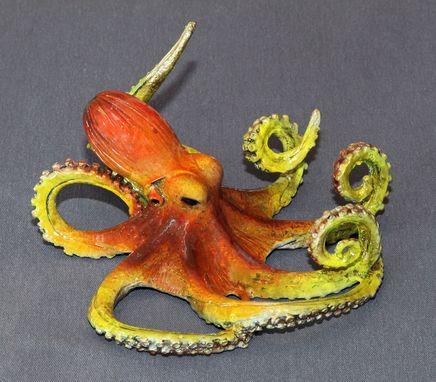"Custom Made Bronze Octopus ""Oscar Octopus"" Figurine Statue Sculpture Aquatic Limited Edition Signed Numbered"