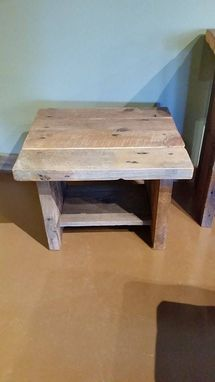 Custom Made Rustic Reclaimed Barnwood Coffee + End Table Set