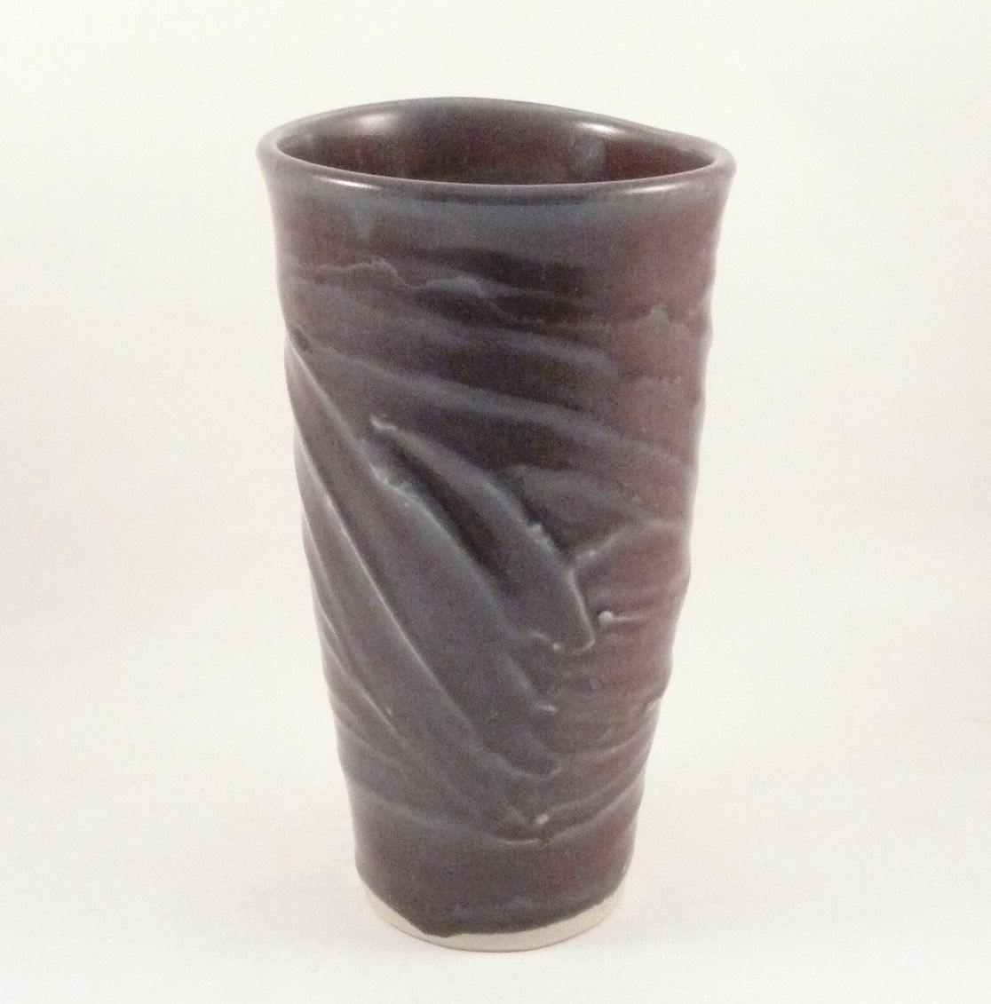 Hand crafted handmade ceramic art vase in eggplant purple tall hand crafted handmade ceramic art vase in eggplant purple tall sculpted vessel ships today by blue sky pottery custommade reviewsmspy