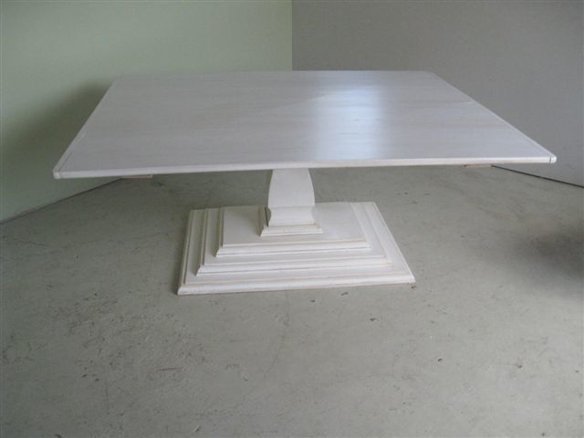 Hand Made Square Dining Table Pedestal Base By