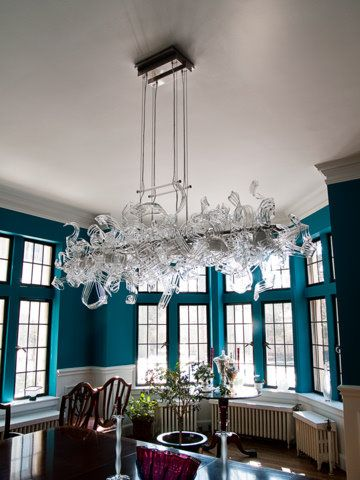 Hand Crafted Dining Room Chandeliers Hand Blown Glass