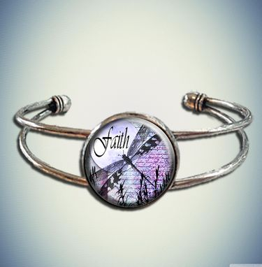 Custom Made Beautiful Tree Of Life Blue Spiritual Yoga Chi Cuff Bracelet With Glass Bezel