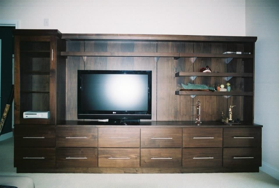 walnut media cabinet by rick klaus