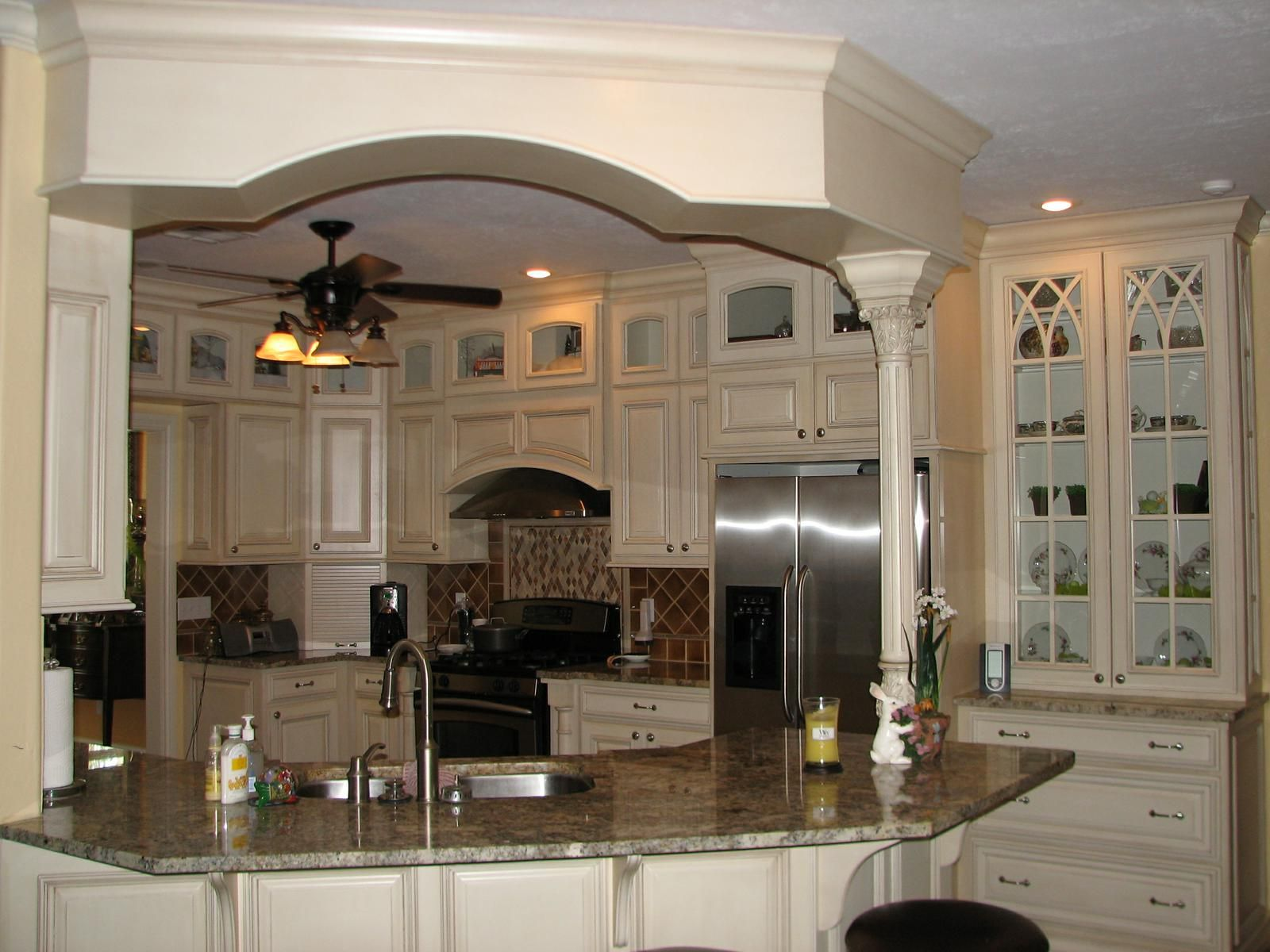 Custom Glazed Kitchen Cabinets Custom Painted And Glazed Kitchenrhodes Woodworking