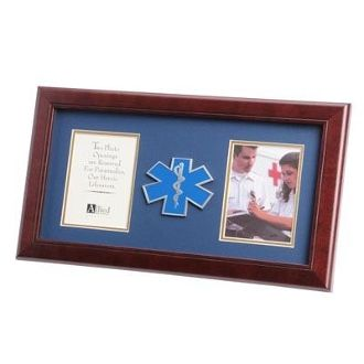 Custom Made Ems Frame 4 X 6 Ems Medallion Double Picture Frame