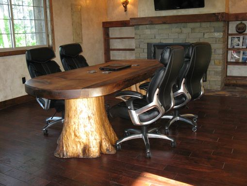 Custom Made Rustic Montana Live Edge Conference Table