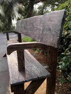 Custom Made Farmhouse Rustic Bench