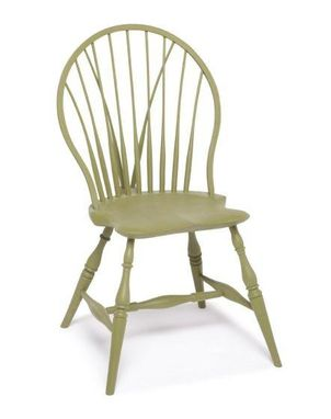 Custom Made Pinched Hoop-Back Windsor Chair With Tail Brace