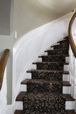 Custom Made Custom Curved Raised Panel Wainscoting
