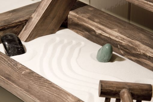 Custom Made Mini Wooden Zen Garden