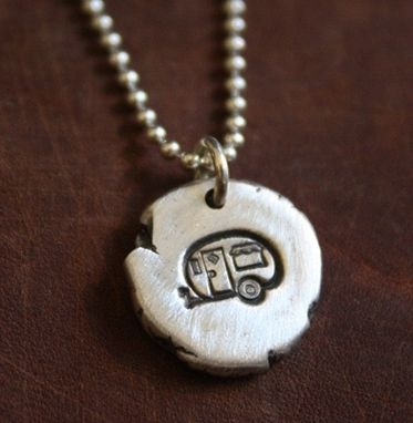 Custom Made Fine Silver - Life Is About Camping Necklace - $30