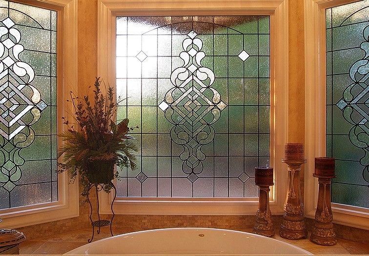 Stained Glass Bathroom Window - Bathroom