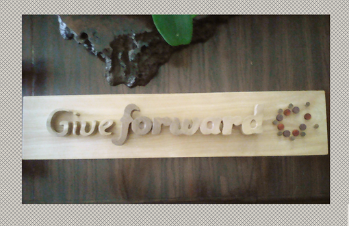 Custom Made Wood Giveforward Logo