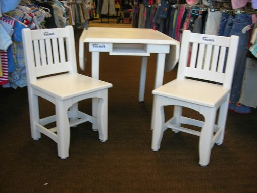 Custom Made Children's Drop Table And Chair Set