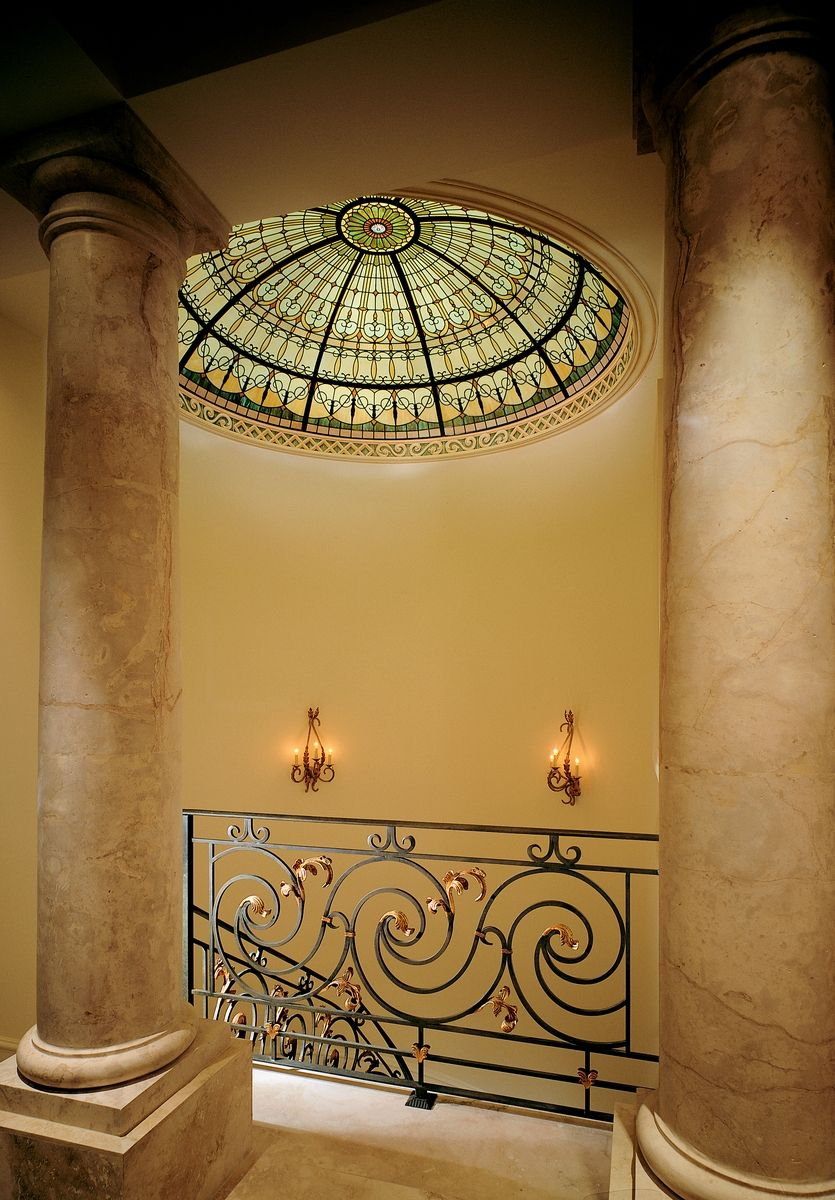 Hand Crafted Stained Glass Ceiling Dome At The Top Of The ...