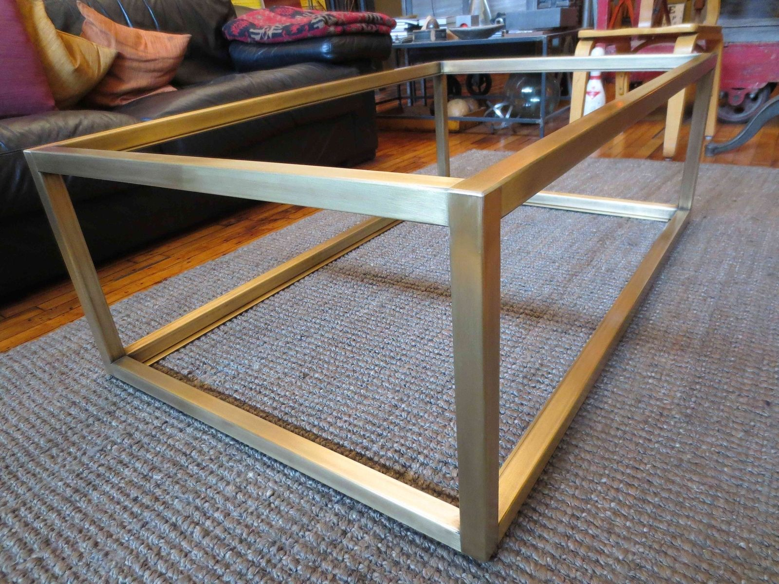 Custom Metal  Modern Coffee Table Base by Andrew Stansell Design |  CustomMade.com