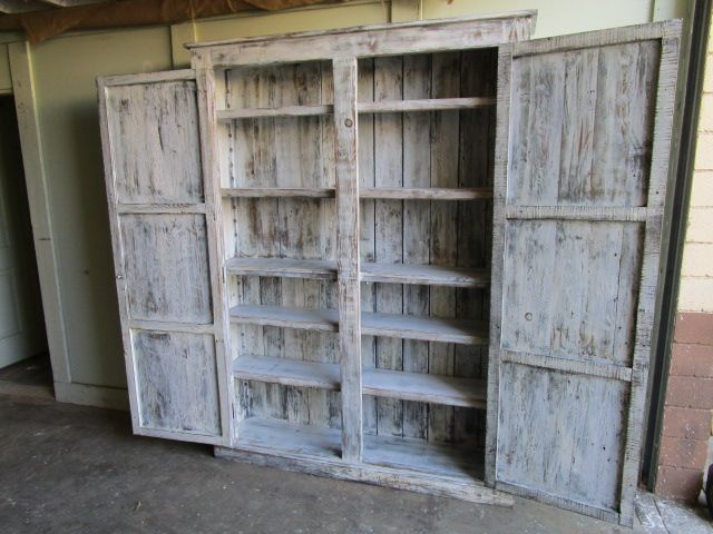 Buy A Hand Crafted Kitchen Cabinet Made From Reclaimed Wood