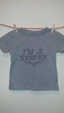 Custom Made Sale Harry Potter Inspired I'M A Keeper And Golden Snitch Shirt, Grey 18 Months
