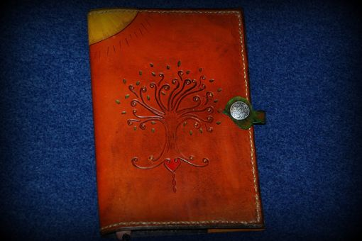 Custom Made Tree Of Life & Celtic Cross Leather Journal Cover