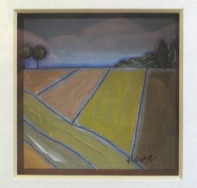 Custom Made Sale, 2 Framed Landscape Paintings, Free Shipping, Brown, Ooak