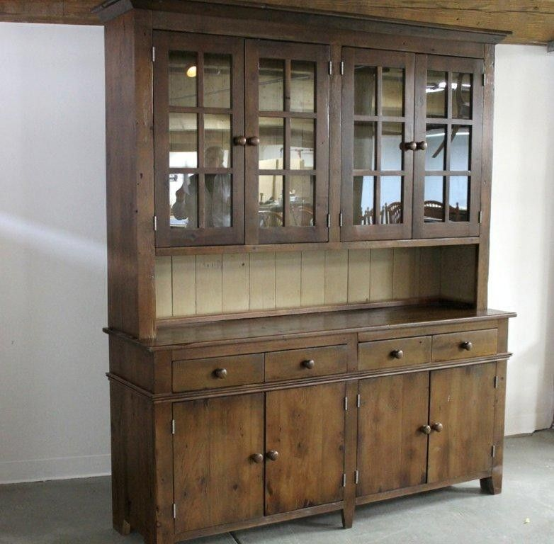 Custom Made Antique Walnut Hutch