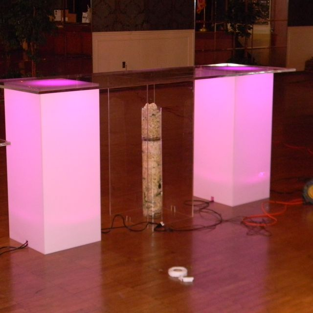 Hand Crafted Lucite / Acrylic Pillars - Plant Stand - Different ...