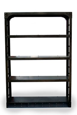 Custom Made Industrial Steel Bookshelf, Room Divider, Home Library