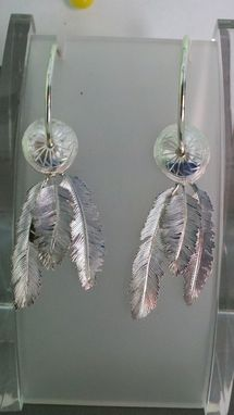 Custom Made Sterling Silver Feather Earrings