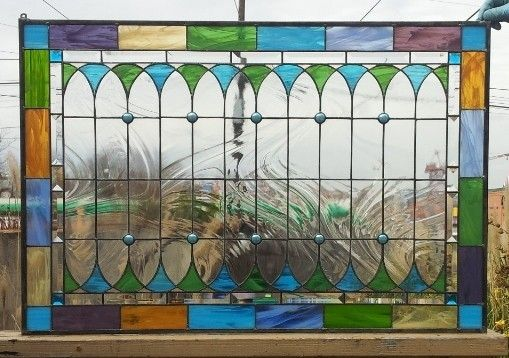 Custom Made Original Stained Glass Window Ii (Wispy Opal Version) - (W-42)