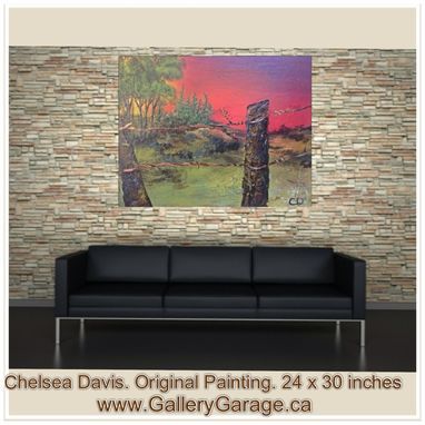 Custom Made Modern Landscape Original Painting