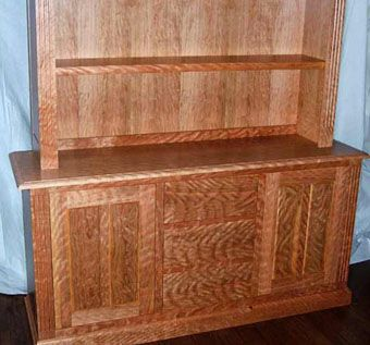 Custom Made Curly Cherry Hutch