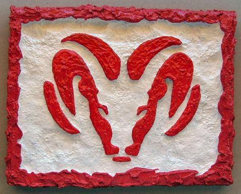 Custom Made Dodge Ram Logo Wall Art