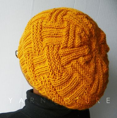 Custom Made The Basketweave Textured Hat - In Mustard / Unisex / Winter, Spring,Summer, Fall Fashion Slouch Hat