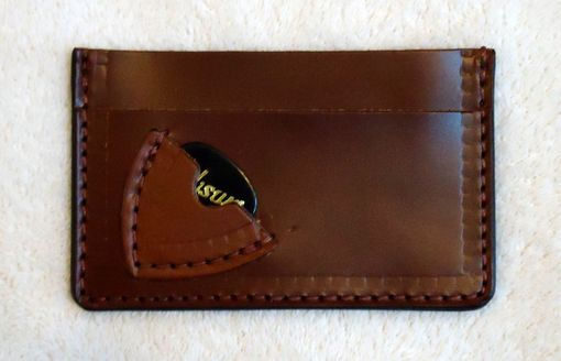 Custom Made Personalized Leather Guitar Pick/Plectrum Id Wallet